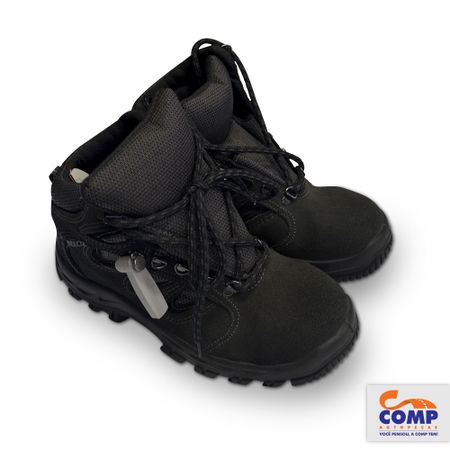 Par-Botina-Nobuk-grafite-tamanho-42-Profissional-Normas-ABNT-NBR-ISO-Bracol-bota-sapato-1