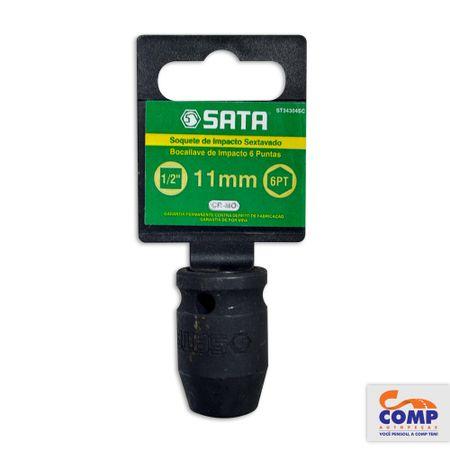 ST34304SC-7891645084004-Soquete-Impacto-Sextavado-Sata-11mm-Encaixe-1-2-Aco-Cromo-Molibdenio-comp-1