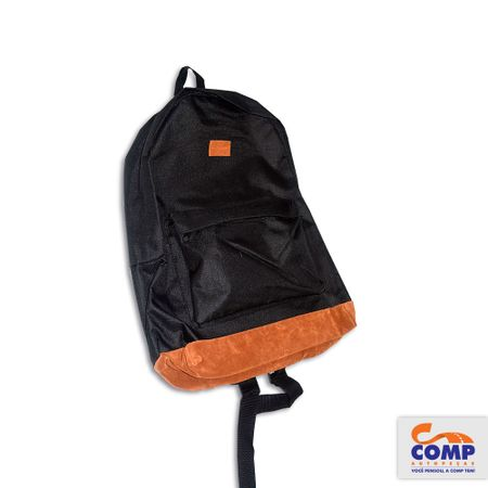 Multilaser-BO407-Mochila-Backpack-Preta-Marrom-Bolso-Frontal-Nylon-comp-1
