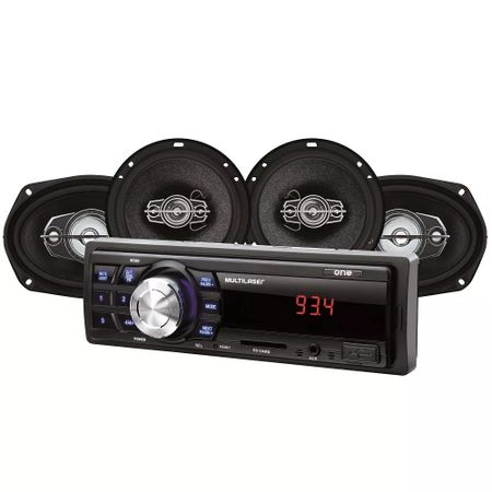Kit-Automotivo-Mp3-One-Multilaser-Quatro-Alto-Falantes--Radio-Fm-Entrada-Sd-E-Usb-Funcao-comp-1